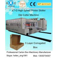 Automatic Corrugated Carton Making Machine Slotter Die Cutter Lead Edge Feeding Manufactures