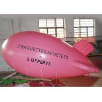Large Pink Inflatable Balloons Airship Model For Advertising Event / Airship Balloon Flying Manufactures