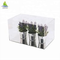 Clear Acrylic Countertop Display Case Simple Style Black Top And Bottom Clear Custom Acrylic Box Manufactures