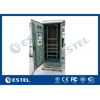 IP55 Waterproof Galvanized Steel Green Outdoor Power Cabinet / Outdoor Telecom Enclosure With Cooling System