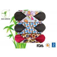 Colorful Bamboo Reusable Menstrual Pads , Gentle Soft Bamboo Pads Menstrual Manufactures