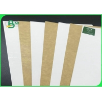 250GSM 325GSM FDA Safe White Face Kraft Board For Fast Food Packing Manufactures