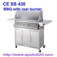 Gas Barbecue Grill with Rear Burner Manufactures
