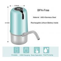 Lithium Battery Automatic Bottled Water Pump With Food Grade ABS Material Manufactures