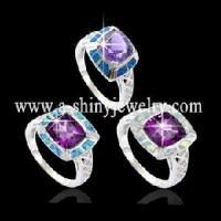 China 925 Sterling Opal Ring with Amethyst/Tanzanite (RSB2108A) on sale