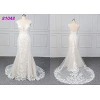 White Color Lace Wedding Womens Ball Gowns Fashionable Bridal Dress Eco Manufactures