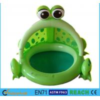 Buy cheap Frog Shaped OEM Blow Up Kiddie Pool High Safety For Ages 6 Months - 36 Months from wholesalers