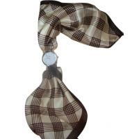 China Beautiful Silk Plaid Scarf Lady Womens Quartz Watches , Antique scarf watch on sale