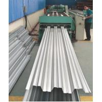 Galvanized Corrugated Steel Roofing Sheets / Floor Deck For Muti - Floor Buildings Manufactures