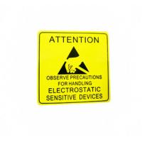 Self Adhesive Electronic Product Label For Electrical Warning Attention Manufactures