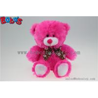 20cm Hot Pink Lips Plush Bear Toy as Valentine Promotional Gift Manufactures