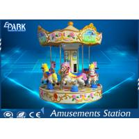 Fiberglass Kiddy Ride Horse Carousel Ride Outdoor Playgroud Amusement Park Equipment Manufactures