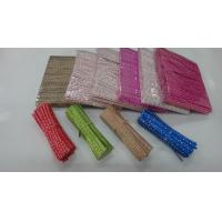 China printed paper twist ties for bakery packaging on sale