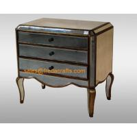 Direct factory price antique glass venetian mirrored bedside cabinet  furniture Manufactures