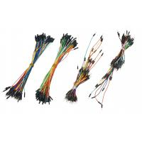 Electrical DIY Breadboard Jumper Wires , Flexible Solid Core Jumper Wires Manufactures