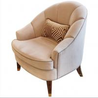 Fabric Upholstery Living Room Couches , Wooden Hotel Lounge Chair High End Manufactures