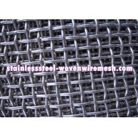Quality High Tensile Carbon Steel Crimped Wire Mesh With Square Aperture And Round Wire for sale