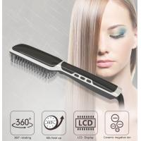 New Ceramic Hair Straightening Comb Hair Styling Tools Ionic Hair Straightener Brush Hair Styler Comb Electric Hair Curl Manufactures