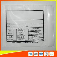 Custom Printed Plastic Medical Ziplock Bags Reclosable Waterproof Non Poisonous Manufactures