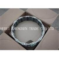 Galvanized Barbed Concertina Wire , CBT 65 Concertina Razor Wire For Industrial Sites Manufactures
