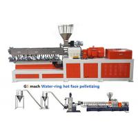 200 - 300 kg/h Double Screw Extruder  Machine PP Caco3 Water Ring Pelletizing Manufactures