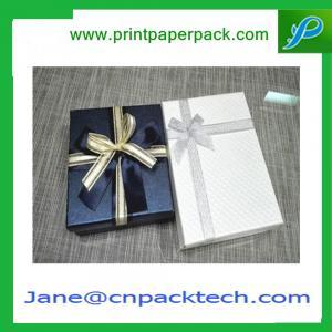 China Custom Ribbon Gift Boxes Rigid Cardboard Boxes Chocolate Box Set-Up Boxes Paper Gift Box on sale