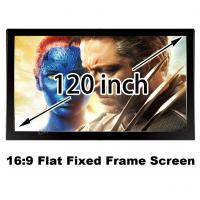 "16:9 Ratio 120"" Matt White Soft Deluxe Fixed Frame Projection Screen Fit For 3D Cinema Manufactures"