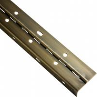 China Brass Plated Continuous Piano Hinge Partial Wrap Slotted For Bending Metal Door on sale