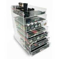 Quality 7 Tier Makeup Acrylic Display Box With Drawers For Shopping Mall for sale