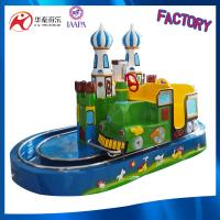 Hot sell coin and battery operated track train rides theme park kids little trains castle Manufactures
