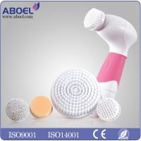 Female Electric Facial Cleansing Brush , Water Proof Exfoliating Face Brush Manufactures