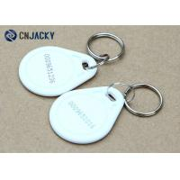 China ABS Material Rfid Key Fob System , White Color NFC NTAG213 Hotel Rfid Key Tag on sale
