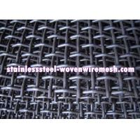 High Tensile Carbon Steel Crimped Wire Mesh With Square Aperture And Round Wire In Sheet Manufactures