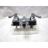Stainless Steel 2 Handle Kitchen Sink Faucet With Pull Out Sprayer / One Faucet Hole Manufactures