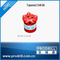 High Quality 7 degree 40mm(Q7-40-11 22-50) buttons Tapered Drill Bit for gold mine Manufactures