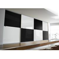 Black and White Color Safety Tempered  Glass Panel for Back Walls Manufactures
