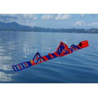 Red Color 0.9 mm PVC Tarpaulin Inflatable Sport Game Water Obstacle Course Manufactures