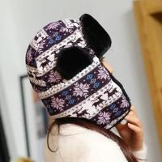 2017 cheap Winter russian style lady fur ski35*24cm thickness 4cm 95g cap custom