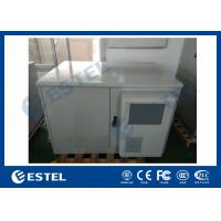 Single Wall Steel Metal Customized BTS Telecom Shelter Outdoor Rack Cabinet With Double Door Manufactures