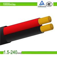 1.5mm2/10mm2 red color double cores pv solar photovoltaic cable Manufactures