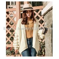 OEM Custom Ladies' Hand knit Cardigan, Hand Knitted Sweater,  Fashion Girls Cardigan Factory Manufacturer Supplier Manufactures