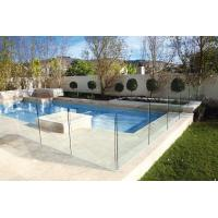 Polished Edges Low E Glass Pool Safety Fence With ASTM Standard Manufactures