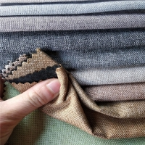 Jacquard Imitating 300gsm Linen Sofa Fabric Manufactures
