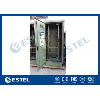 19 Inch Double Wall Green Outdoor Telecom Cabinet For Wireless Communication Base Station Manufactures