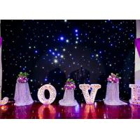 DMX Programable RGB LED Curtain Lights For Weddings Backdrop Twinkle Starlit Type Manufactures
