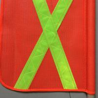 Orange Outdoor Traffic Safety Flag PVC Fabric 46cm With Reflective Tape Manufactures