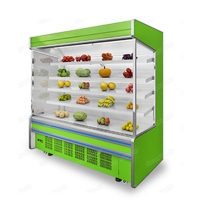 Air Curtain 10ºC  3m Fruit Vegetable Open Display Refrigerator Manufactures