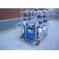 4 Stainless Steel Buckets Dairy Milking Machine For Goats / Sheep Manufactures