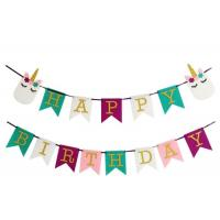Plastic Pink Pennant String Flags , DIY Colorful Pennant Banner For Sporting Events Manufactures