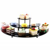Glossy Acrylic Tiered Display Stands , 3 Tier Semicircle Cupcake Dessert Stand Manufactures
